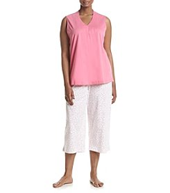 Intimate Essentials® Plus Size V-Neck Pajama Set
