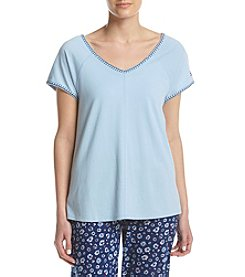 Tommy Hilfiger® Blanket Stitch Chambray Pajama Top