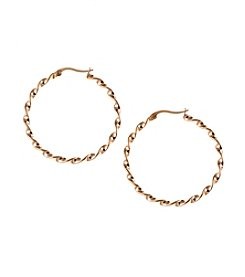 Marsala Rose Gold Plated Hoop Earring