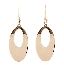 Marsala Rose Gold Plated Drop Earring