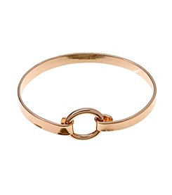 Marsala Rose Gold Plated Circle Bracelet