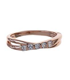 Marsala Cubic Zircona Crossover Ring