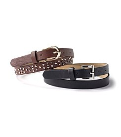 Steve Madden Studded Belt Set