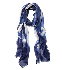 Collection 18 Watercolor Floral Wrap Scarf