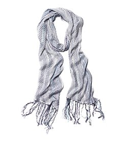 Collection 18 Woven Fringe Skinny Scarf