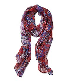 Collection 18 Bright Paisley Tile Scarf