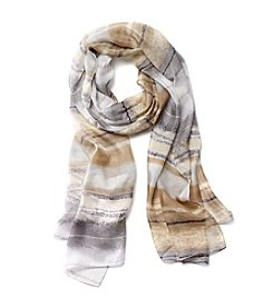 Collection 18 Painted Stripes Oblong Scarf