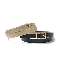 Steve Madden 2-For-1 Belt Set