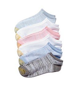 GOLD TOE® 6-Pack Free Feed Liner Oh So Soft Socks