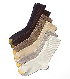 GOLD TOE® 6-Pack Ribbed Crew Socks