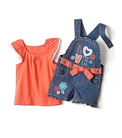 Nannette® Baby Girls' Shortall Top Set