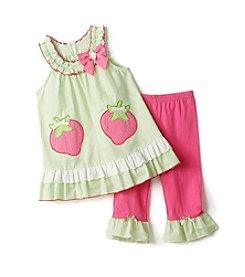 Nannette® Baby Girls' Strawberry Leggings Set