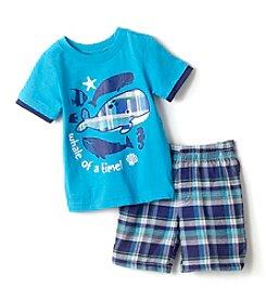 Nannette® Baby Boys Whale Top Shorts Set