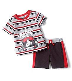 Nannette® Baby Boys Rebel Car Top Shorts Set