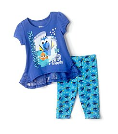 Disney® Girls' 2T-6X Finding Dory & Friends Tunic Leggings Set