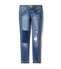 Squeeze® Girls' 7-14 Patch Rip & Repair Release Hem Jeans