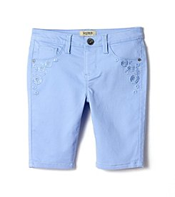 Squeeze® Girls' 7-14 Floral Embroidered Bermuda Shorts