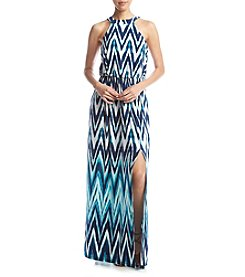 Trixxi® Chevron Blouson Maxi Dress
