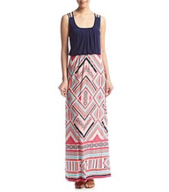 Trixxi® Diamond Blouson Maxi Dress