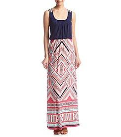 Trixxi® Diamond Blouson Maxi Dress