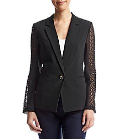 XOXO® Lace Detail Blazer