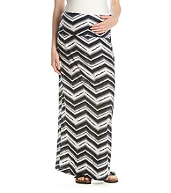Three Seasons Maternity™ Chevron Print Maxi Skirt