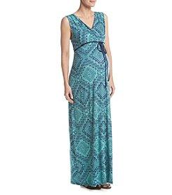 Three Seasons Maternity™ Geometric Print Maxi Dress