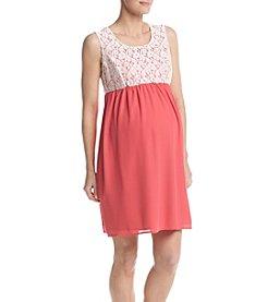 Three Seasons Maternity™ Lace Solid Dress