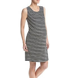 Three Seasons Maternity™ Stripe Ponte Knit Tank Dress Open Back