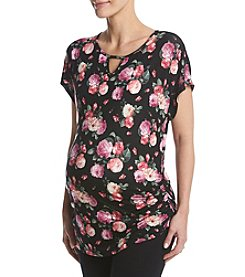 Three Seasons Maternity™ Cap Sleeve Floral Top