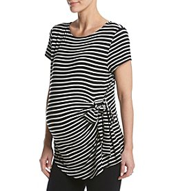 Three Seasons Maternity™ Stripe Side Tie Top
