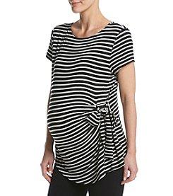 Three Seasons Maternity™ Stripe Side Tie Top