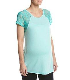 Three Seasons Maternity™ Lace Stripe Keyhole Back Top