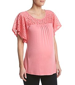 Three Seasons Maternity™ Lace Yoke Top