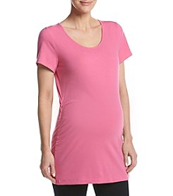 Three Seasons Maternity™ Scoop Neck Side Ruched Tee