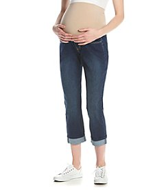 Three Seasons Maternity™ Cuffed Stretch Denim Ankle Pants