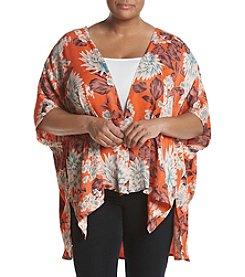 Chelsea & Theodore® Plus Size Printed Kimono