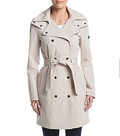 Calvin Klein Asymmetical Belted Softshell Trench Coat
