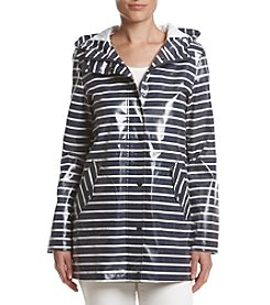 BCBG™ Striped A-Line Hooded Jacket