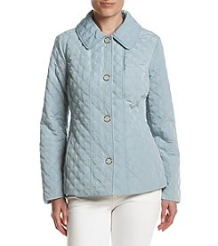Anne Klein® Snap Front Diamond Quilted Jacket