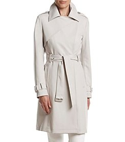 French Connection Oversize Collar Draped Trench Coat