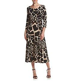 Nina Leonard® Printed Matte Jersey Dress