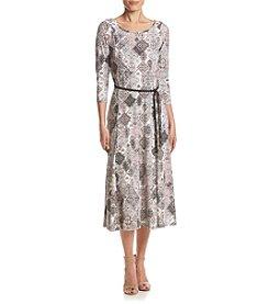 Nina Leonard® Matte Jersey Midi Dress