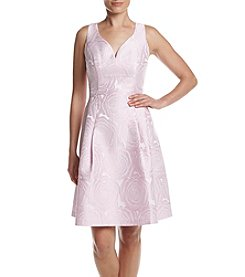 Ivanka Trump® Embroidered Fit And Flare Dress
