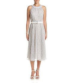 Tommy Hilfiger® Dotted Chiffon Midi Dress