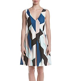 Vince Camuto® Colorblock Fit And Flare Dress