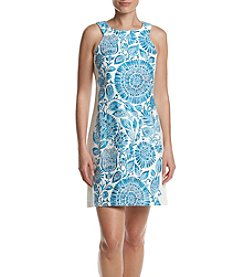 Taylor Dresses Geo Floral Shift Dress