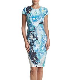 Vince Camuto® Floral Burst Scuba Dress