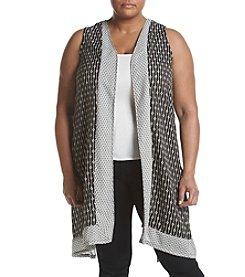 Chelsea & Theodore® Plus Size Split Back Vest