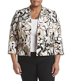 Kasper® Plus Size Artsy Floral Jacket